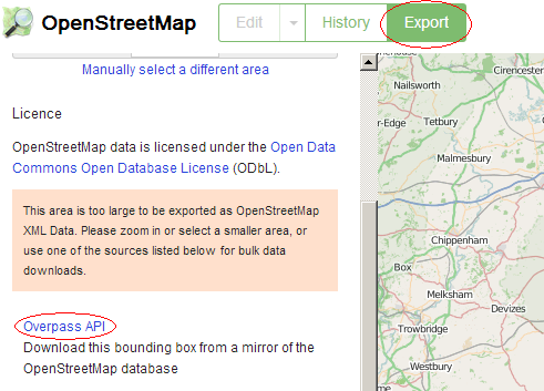 getting osm data