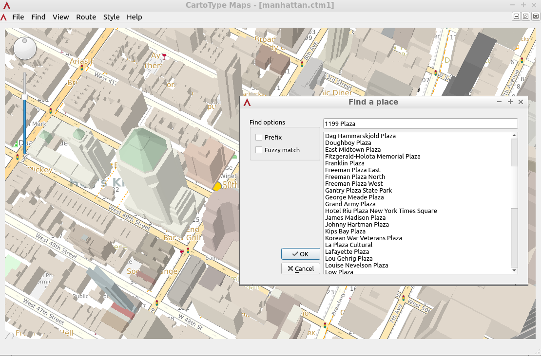 linux maps app manhattan
