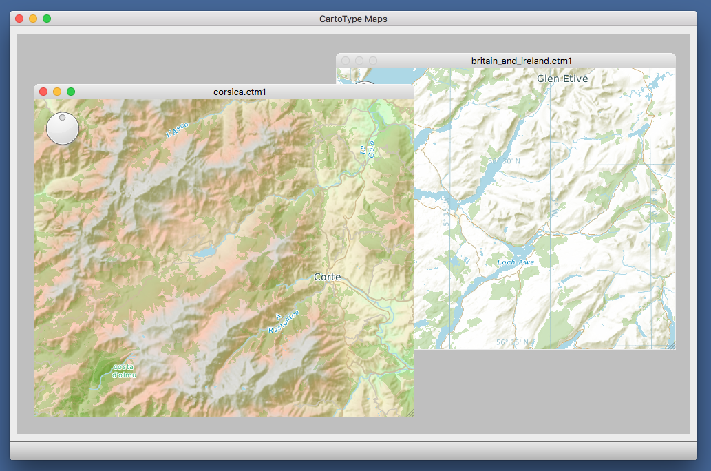 mac maps app screen shot