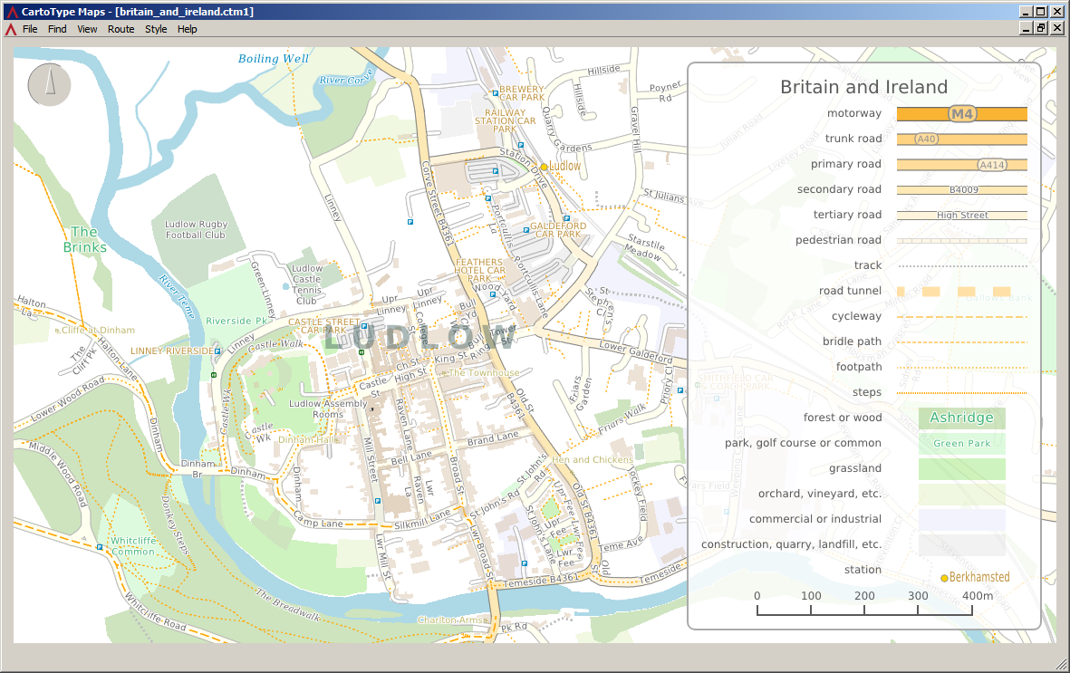 windows maps app ludlow
